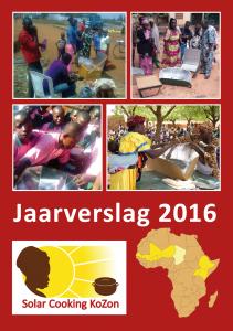 Voorkant jaarverslag 2016
