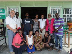 het team voor het productiecentrum in Biharwe